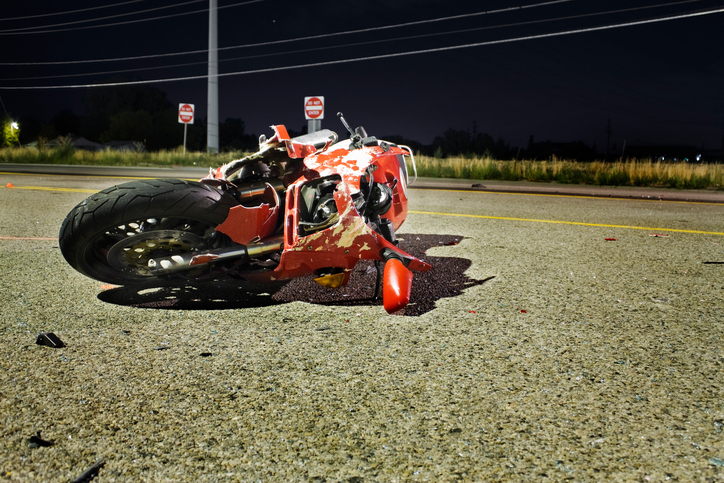 Customized Motorcycle Abandoned After Wreck
